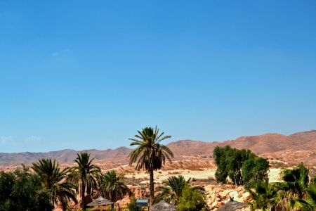 Panorama of the desert village of Matmata - Tunisia, Africa Stock Photo - 17385011