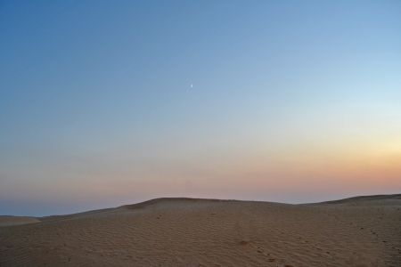 View of the sandy desert of the Sahara - Tunisia, africa photo