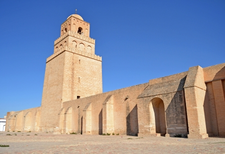 kairouan: The Great Mosque of Kairouan - Tunisia, Africa Stock Photo