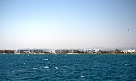 Coast of the city of Hammamet, Tunisia photo