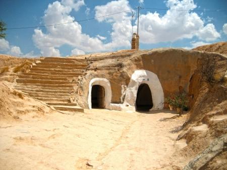 matmata: Troglodyte house in the village of Matmata - Tunisia, Africa