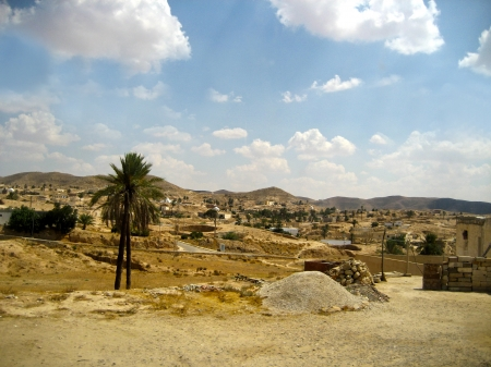 View of the rocky desert of Tunisia - Africa photo