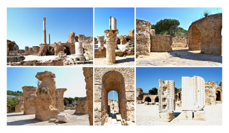 Carthage - Ancient Walls of spas, Tunisia photo