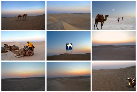 Tunisia, the scenic wonders of the sandy desert of the Sahara photo