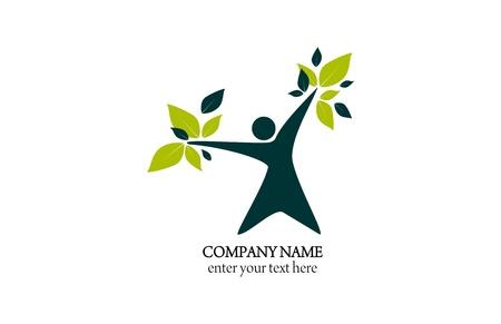 Logo abstrakcyjna - naturalne zdrowie i uroda