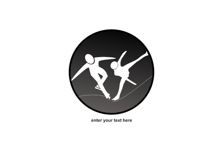 Figure Skating - Logo Vector