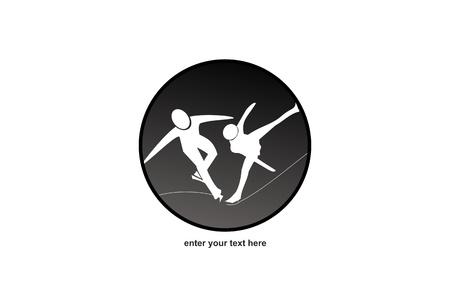 racing skates: Figure Skating - Logo