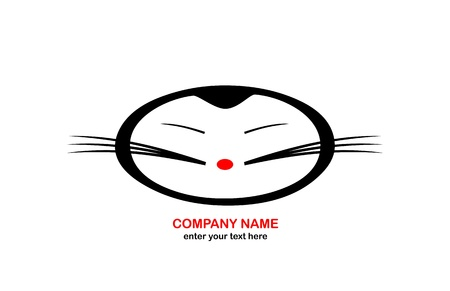Japanese Cat - Logo abstract Vector