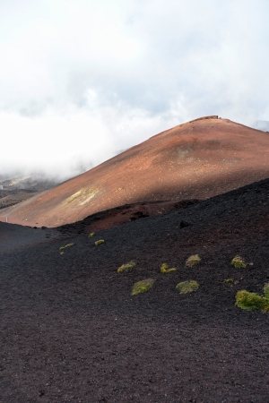 Etna - ancient craters of the shelter Sapienza, Catania photo