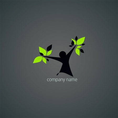 Logo abstract - natural health and wellness Illustration
