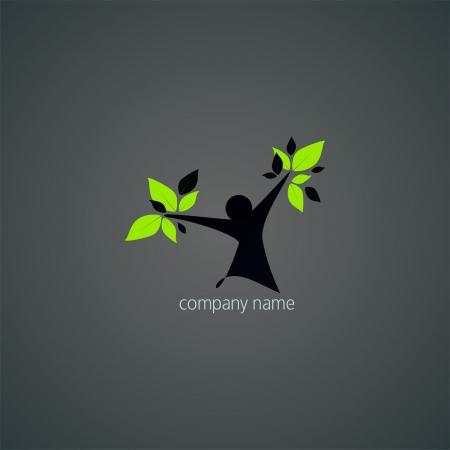 Logo abstract - natural health and wellness Illustration