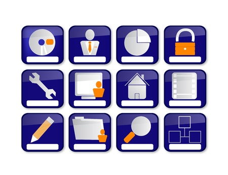 Web icons with hover effect Stock Vector - 18235293
