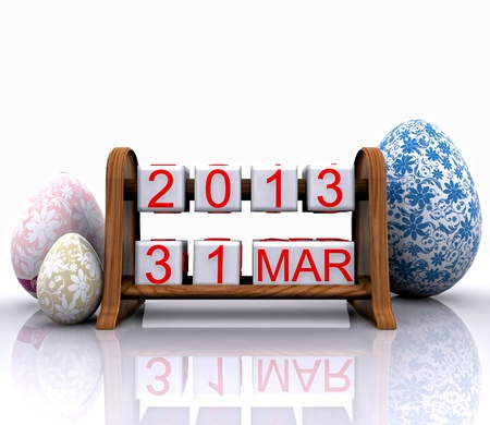 Date - March 31, Easter Stock Photo - 18309881