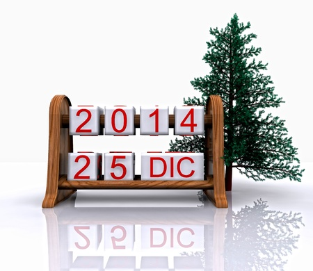 recurrence: Date - December 25, Christmas Day, 3D