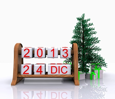 Date - December 24, Christmas Day, 3D  photo