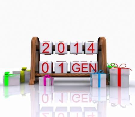 january 1: Date - January 1, 3D Stock Photo