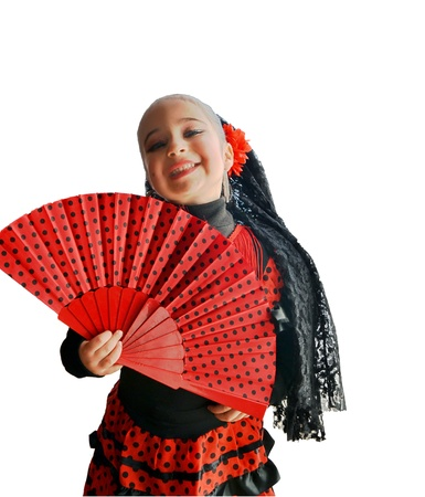 Beautiful girl smiling with original dress  Spanish dancer  photo