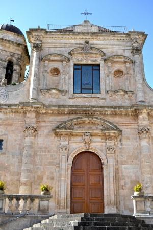 palazzolo: Chiesa con scala, Palazzolo Acreide - Siracusa Archivio Fotografico