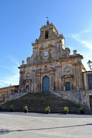 palazzolo: Palazzolo Acreide Cattedrale - Provincia di Siracusa, Sicilia Archivio Fotografico