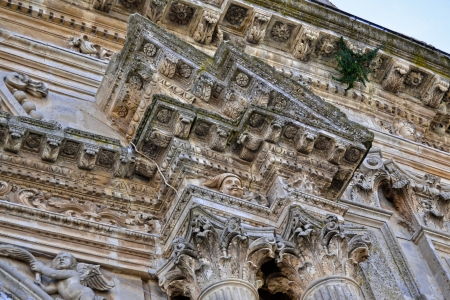 region sicilian: Detail - Capitals, Cathedral of Palazzolo Acreide, Syracuse