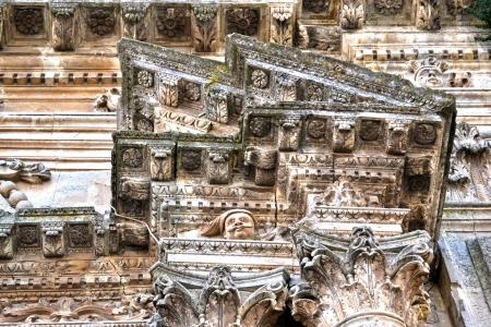 palazzolo: Dettaglio - Capitelli, Cattedrale di Palazzolo Acreide, Siracusa