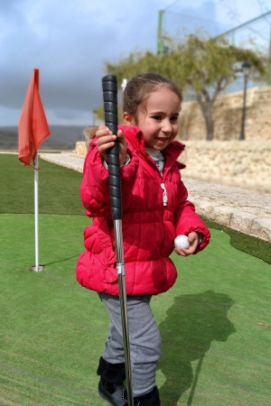 Small player minigolf photo