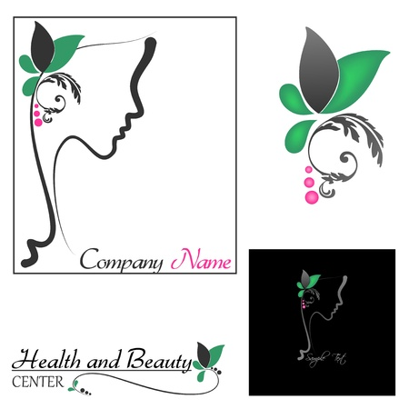 Perfect profile of a Woman with Floral Vector
