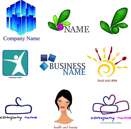 Set - logos for various companies Vector