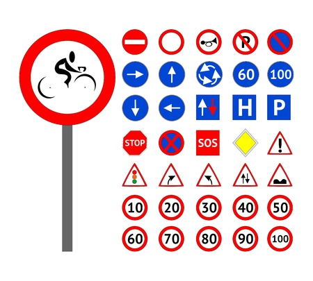 traffic sign: Road signs