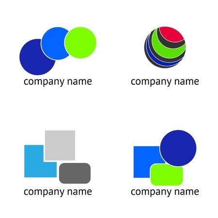 communicative: Set - Logo abstract Illustration