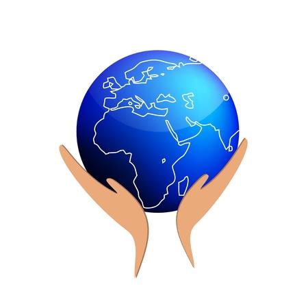 sustain: Hands sustain the world