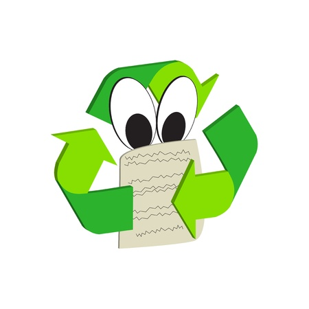 biological waste: Icon of recycling with instructions to be observed Illustration