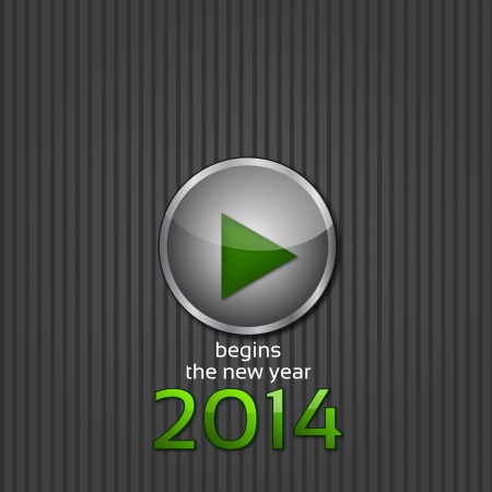 begins: Background 2014 - Play, begins the new year      Stock Photo
