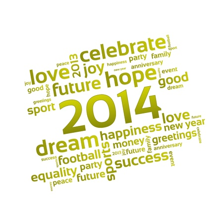 Background 2014 - A Wish for the New Year     Vector