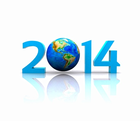 Worldwide  celebrates the New Year - 2014 photo