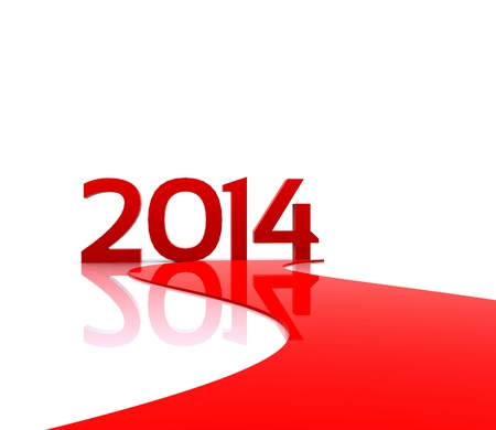 3D illustration - Here comes the new year     2014 Stock Illustration - 19180429