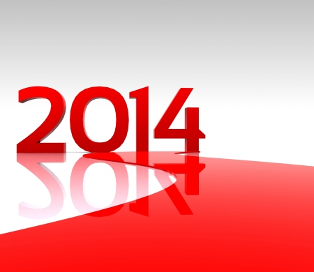 3D illustration - Here comes the new year     2014 Stock Illustration - 19180421
