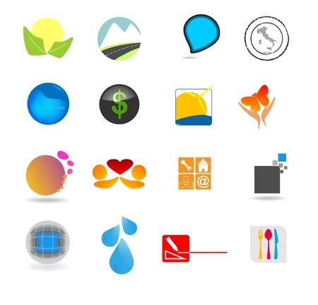 - Establecer iconos para diversas empresas Ilustración de vector