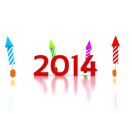 ÅšwiÄ™tuj nowy rok - 2014 Zdjęcie Seryjne
