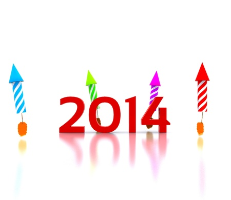 Celebrate the new year - 2014 Stock Photo - 19314787