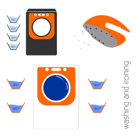 Washing and ironing Vector