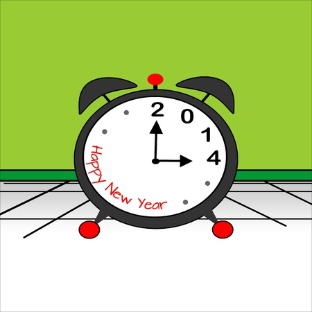 It is time for the New Year, 2014  Stock Vector - 19490088