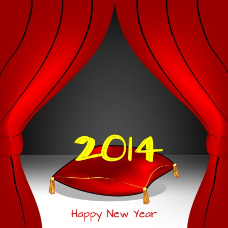 On stage the new year, 2014 Stock Vector - 19490094