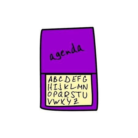 personal organizer: Personal Organizer Illustration
