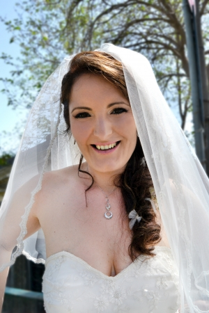 Portrait of Happy Bride photo