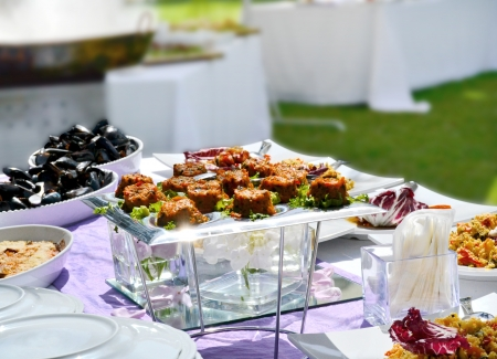 Appetizer Buffet - Wedding photo