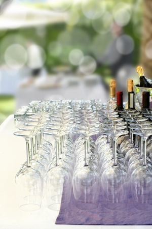Banquet with crystal glasses photo