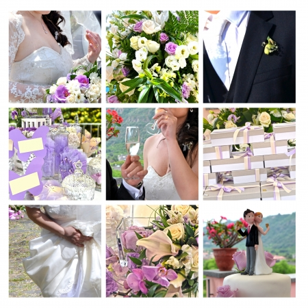 Small details of a Romantic Wedding Stock Photo