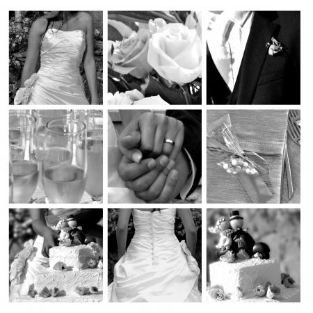 Collage - najlepsze momenty ślubu