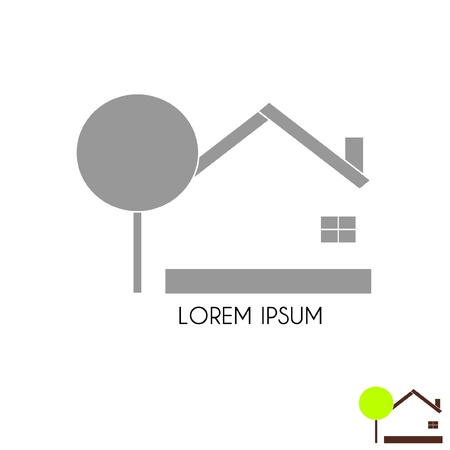 House, monochrome and color Stock Vector - 21083835